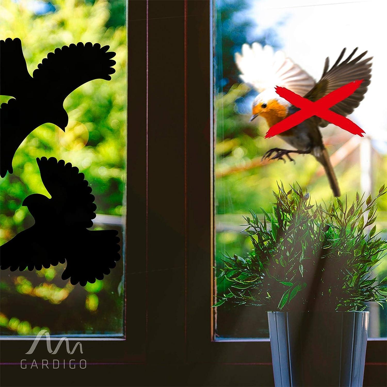 UVs; Lot de 10 Silhouettes; Pr/évention Collision Vitres Baies Vitr/ées Balcon Terrasse V/éranda Fen/êtres Vitr/é Gardigo Autocollants Anti-Collision pour Oiseaux; Stickers R/ésistants aux Intemp/éries