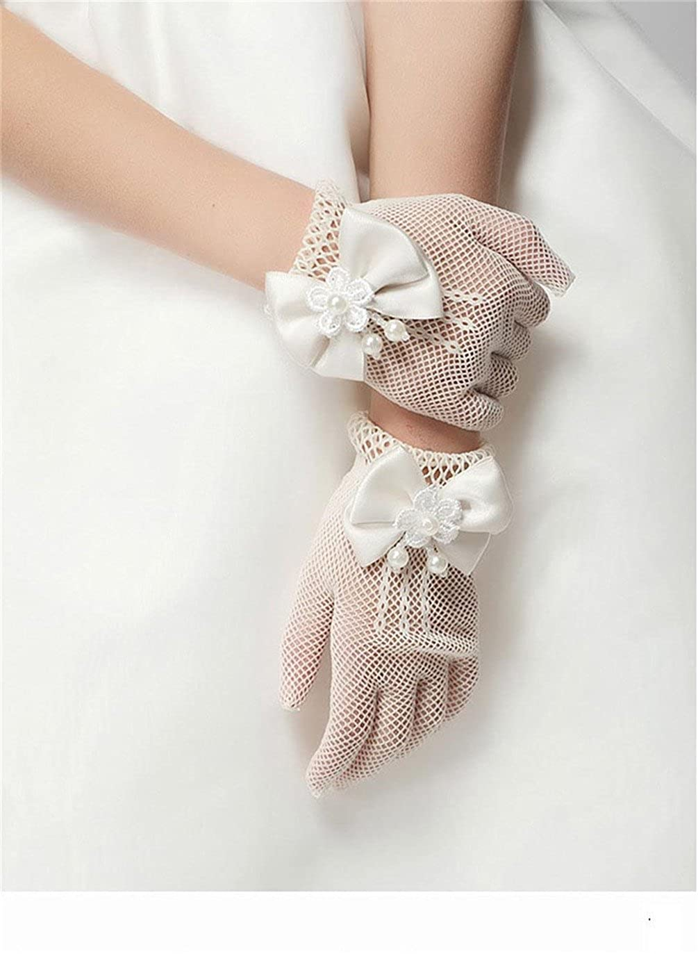 Beige ST002 or Pageant Gloves Wedding Girls Age 4-14 Waboats Girls Holiday
