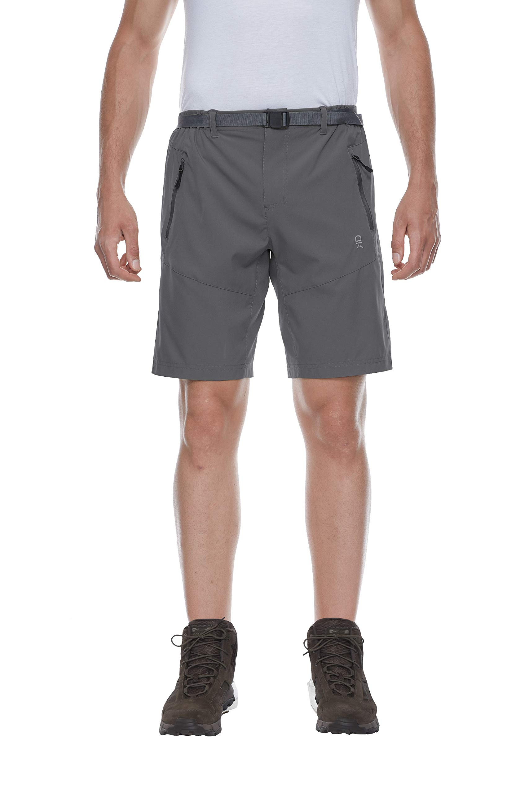 Little Donkey Andy Men's Stretch Quick Dry Cargo Shorts for Hiking, Camping, Travel Steel Gray Size XL