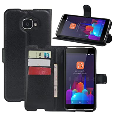 best service f78b3 cc3b6 HualuBro Alcatel Idol 4S Case, Premium PU Leather Wallet Flip Phone  Protective Case Cover with Card Slots for Alcatel One Touch Idol 4S 6070K  ...