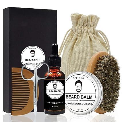 SPEQUIX Kit de higiene personal para barba de hombres, incluido aceite de barba, bálsamo