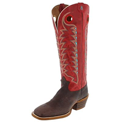 Tony Lama Boot Company Mens Cafe Bonham Buckaroo Red Carrrzo 16in Top 11 D Brown | Western