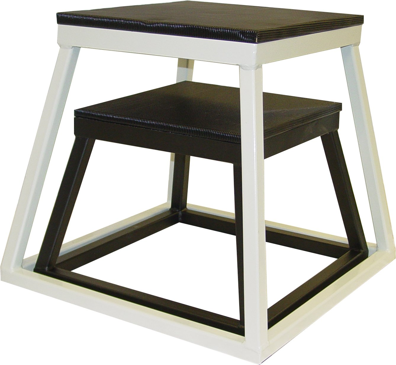Ader Plyometric Platform Box Set- 18'' Black, 24'' White Finish
