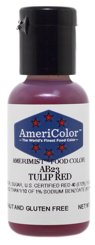 AmeriColor AmeriMist Tulip Red Airbrush Food Color, .65 oz