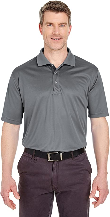 UltraClub Mens Cool /& Dry Polo Shirt Black Pack of 3 XXX-Large.