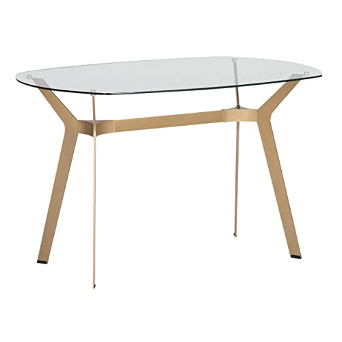 Studio Designs Home Archtech Modern Glass Desk Dining Table