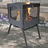 Global outdoors propane faux wood fire table for Global outdoors fire table