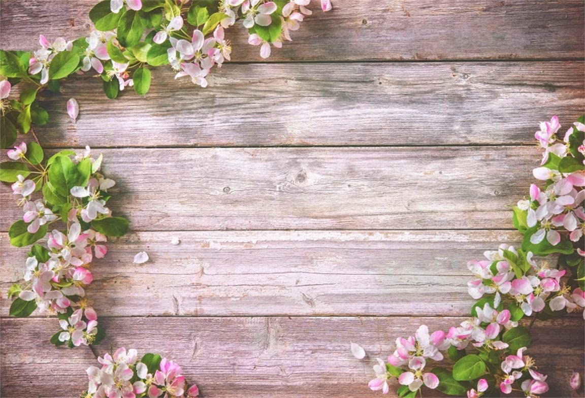 Amazon Com Csfoto 7x5ft Background Blossom Flower Frame On