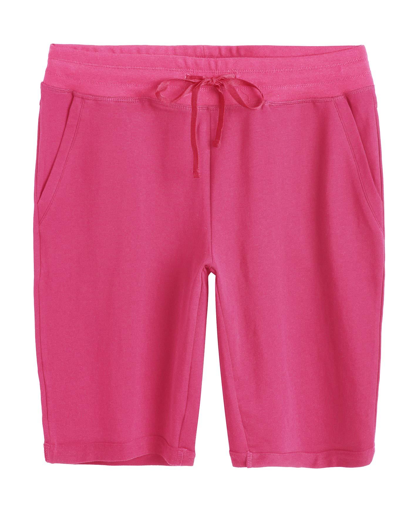 Weintee Women's Cotton Bermuda Shorts with Pockets XL Boysenberry by Weintee