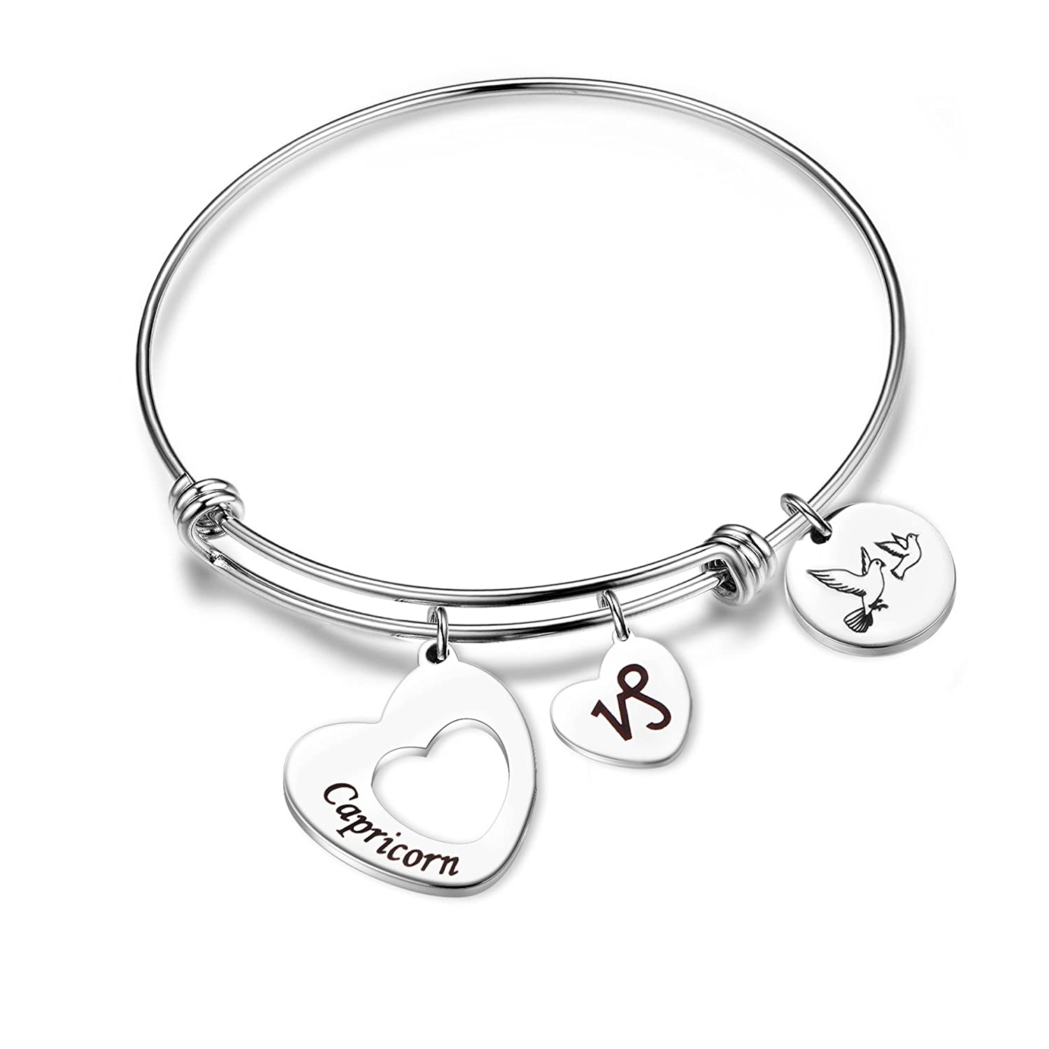 MAOFAED Stainless Steel Zodiac Sign Constellation bracelet for Women Girl Gifts MF-17BR0404