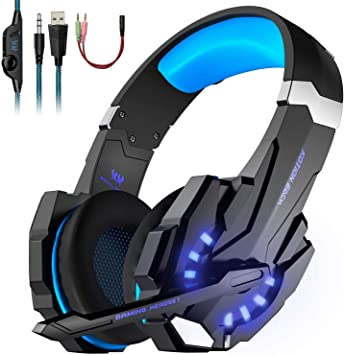 Auriculares Cascos Gaming de USB Mac Estéreo con Micrófono Gaming Headset G9000 con 3.5mm Jack Luz LED Bajo Ruido Compatible con Gamer PC /Nintendo Switch/ PS4/Xbox One/Móvil: Amazon.es: Electrónica