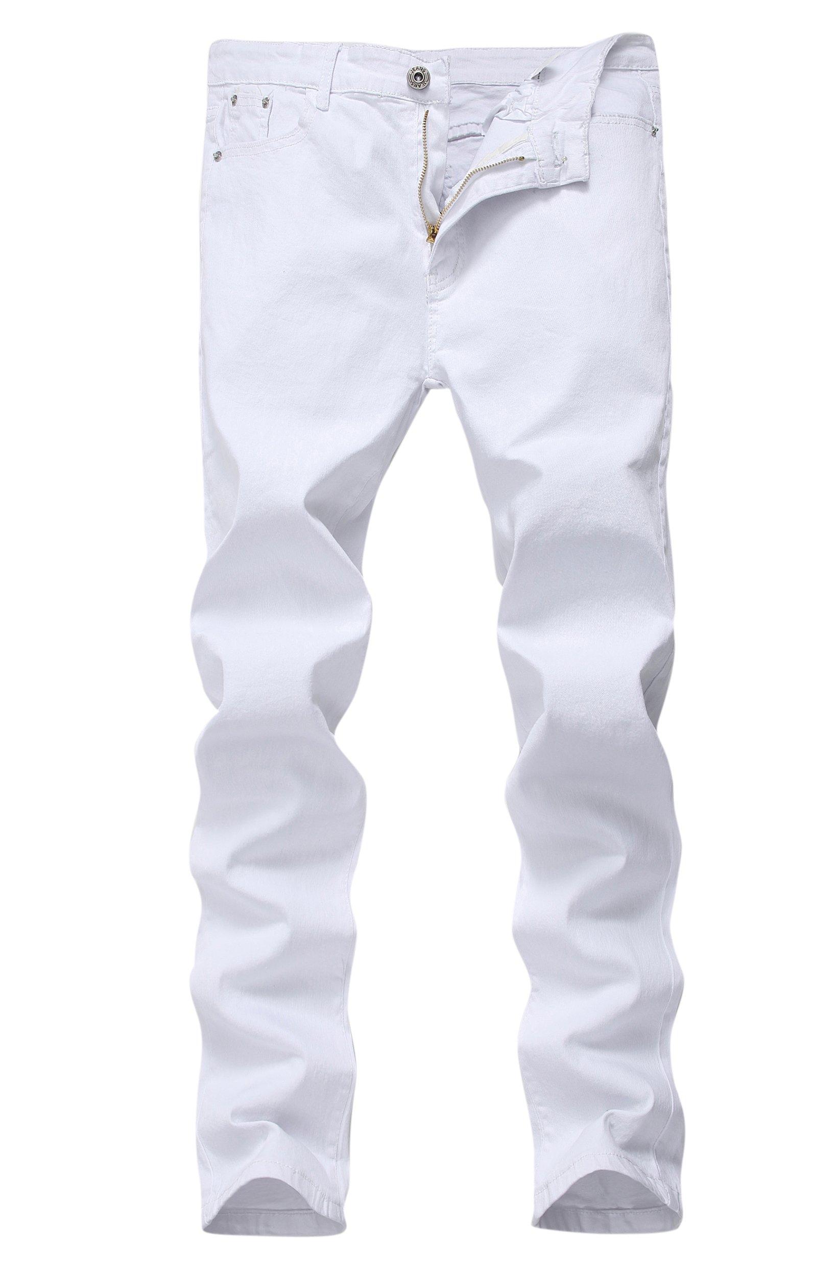8973036d934e Men's Skinny Slim Fit Stretch Straight Leg Fashion Jeans Pants ...