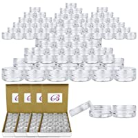 Beauticom 3G/3ML Clear Round Clear Jars with Screw Cap Lids for Jams, Honey, Cooking...