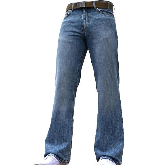 073e53d8f31ed BNWT Men s Wide Leg Bootcut Flared Blue Heavy Denim Jeans  Amazon.co.uk   Clothing