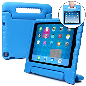 promo code 31580 32e5a Cooper Dynamo [Rugged Kids Case] Protective Case for iPad Air 2 | Child  Proof Cover with Stand, Handle, Screen Protector | Apple A1566 A1567 (Blue)