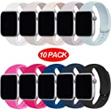 YANCH Compatible with for Apple Watch Band 38mm 42mm 40mm 44mm, Soft Silicone Sport Band Replacement Wrist Strap…