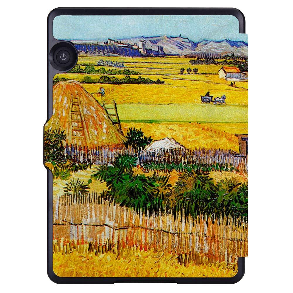 Amazon.com: Huasiru Painting Case for Amazon Kindle Voyage Cover with Auto Sleep/Wake, Harvest: Electronics
