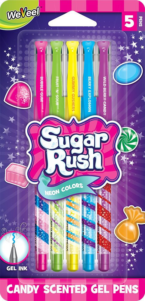 Sugar Rush Candy Scented Gel Pens (41205) by Sugar Rush: Amazon.co.uk:  Office Products