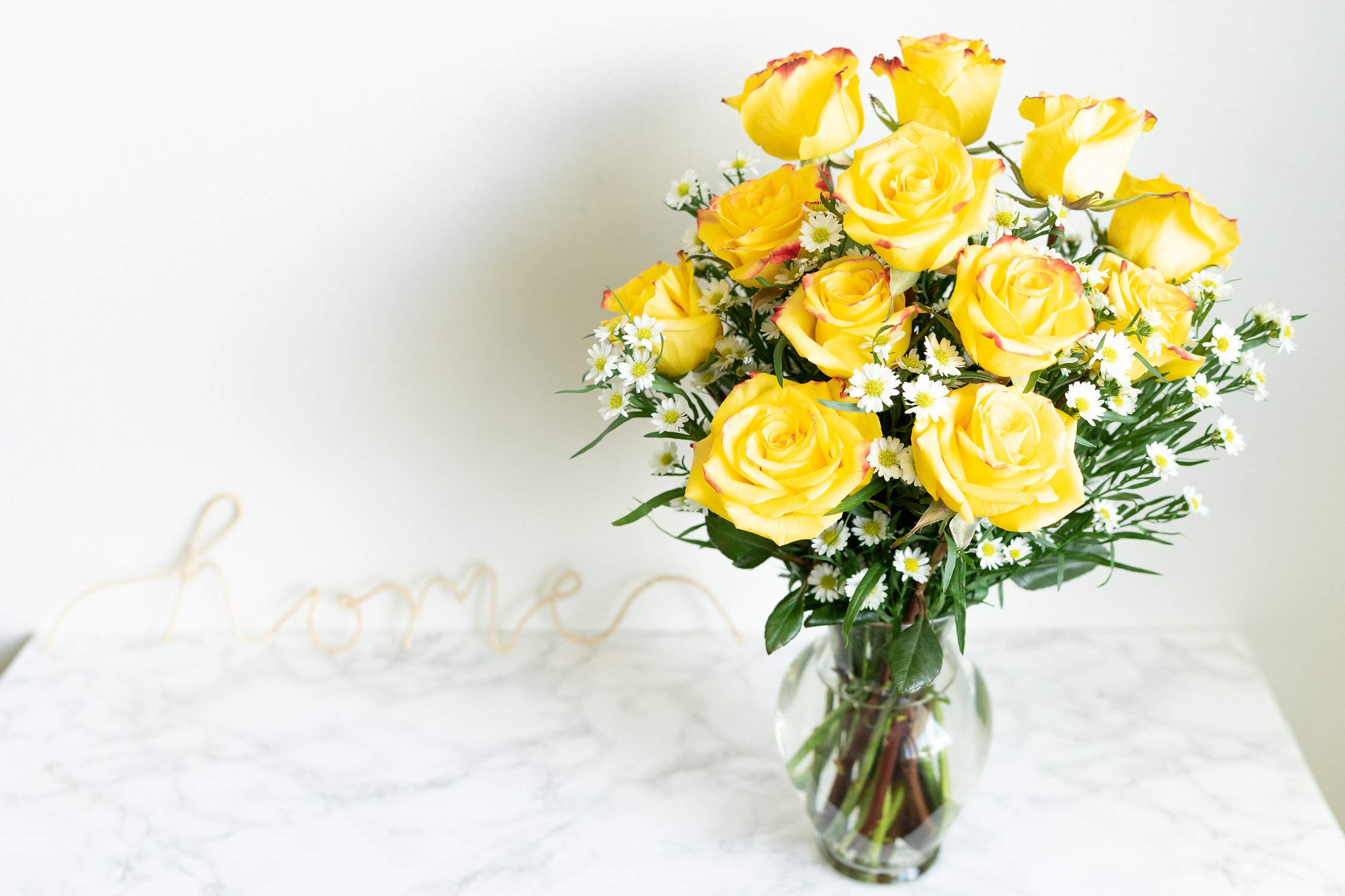 Flowers - One Dozen Festive Roses (Free Vase Included) by From You Flowers (Image #3)