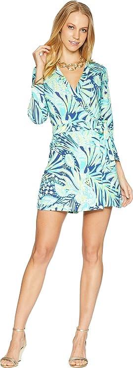 2af55d822f1d Amazon.com  Lilly Pulitzer Women s Karlie Wrap Romper  Clothing