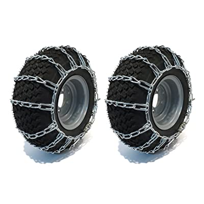 The ROP Shop TIRE Chains for John Deere 312 317 318 322 332 Tractor Mower Snow Blower 2 Link: Garden & Outdoor