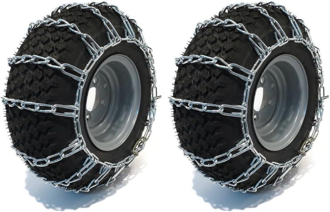 The ROP Shop Pair 2 Link TIRE Chains 23x10.50x12 22x11x8 22x11x10 23x10x12 24x9.5x12 for UTV ATV MaxTrac: Garden & Outdoor