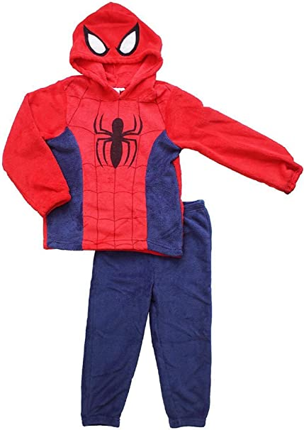 Boys George Blue Spiderman Nightwear Pajamas Size 5-6 Years 2 Set Pjs