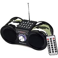 Retekess V113 Tragbarer Bass Digital Radio Boombox Radio FM Stereo Radio mit MP3 und Fernbedienung (Camouflage)
