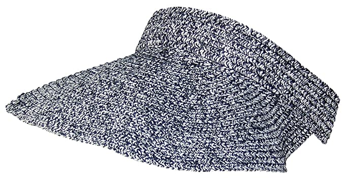1d31c742c6fde0 Tropic Hats Tweed Womens Packable Roll-Up Wide Brim Sun Visor (One Size)
