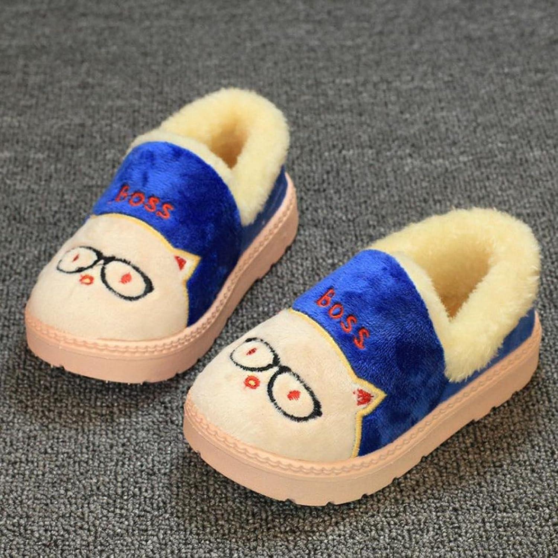 HUHU833 Cute Bow Girls Boys Plush Soft Sole Non-slip Warm Velvet Snow Shoes:  Amazon.co.uk: Shoes & Bags
