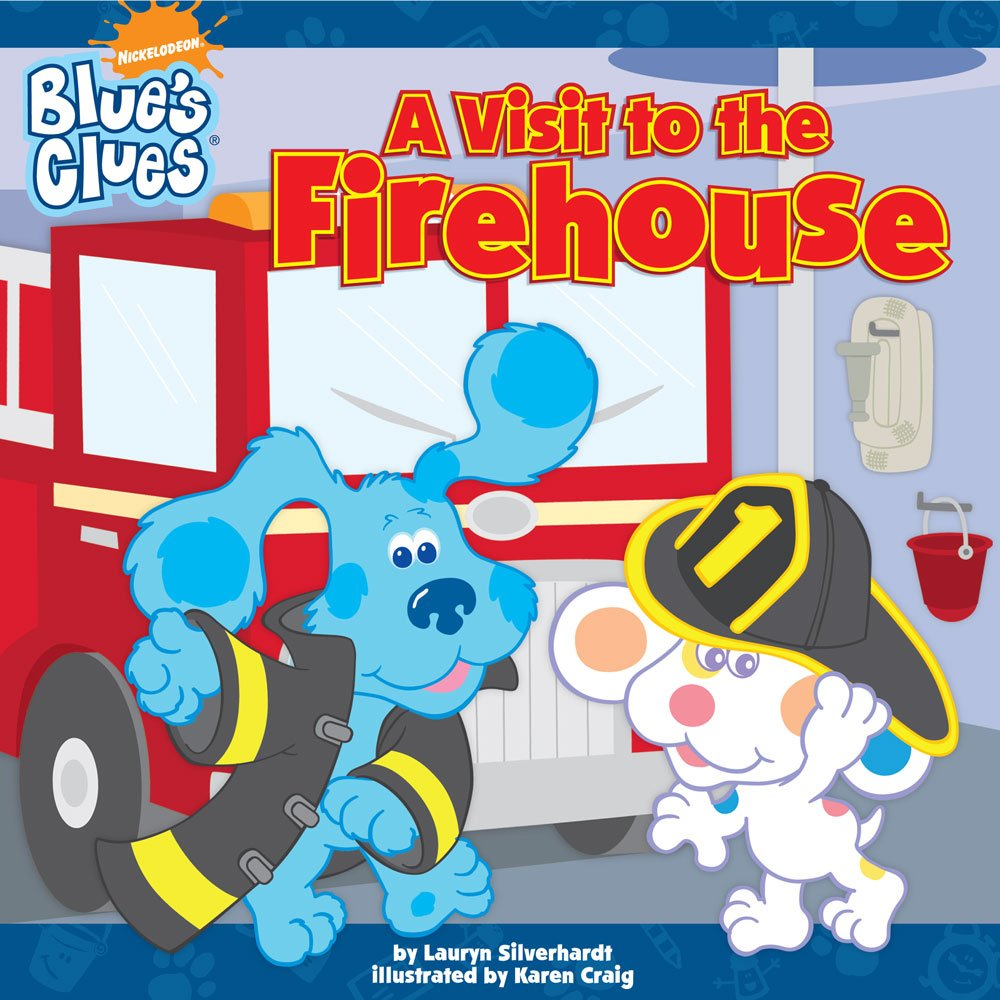 amazon com a visit to the firehouse blue u0027s clues 8x8 paperback