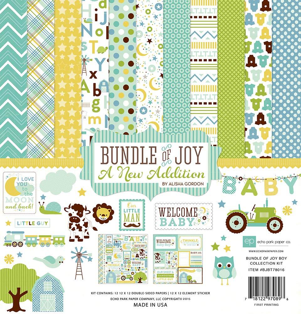 Echo Park Paper Company Bundle of Joy Boy 2 Collection Kit