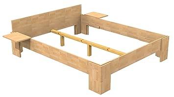 Bassner Holzbau 18mm Echtholzbett Massivholzbett Buche 200x200 Fuss I