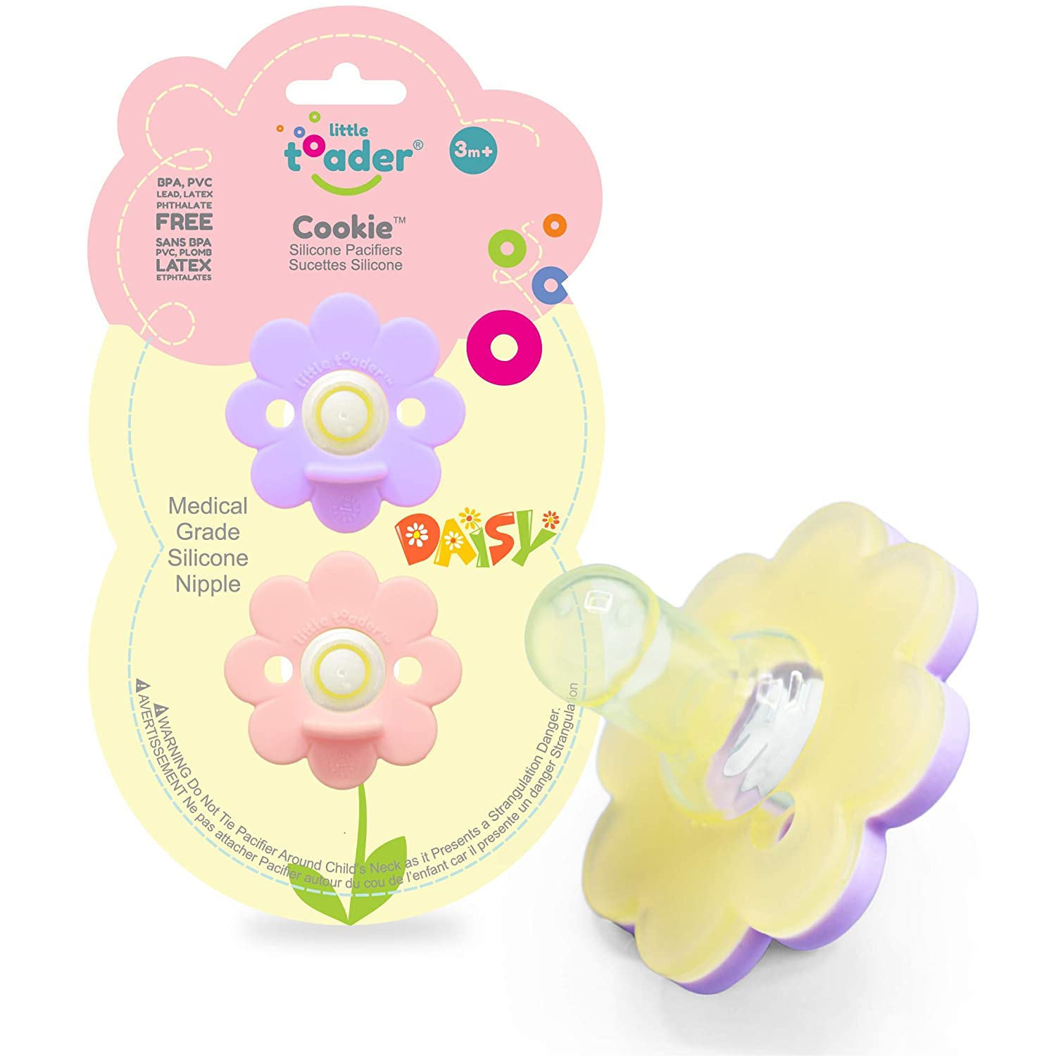 New Baby Pacifiers Boy or Girl Soft Air Center Pacifier Round Latex Nipples