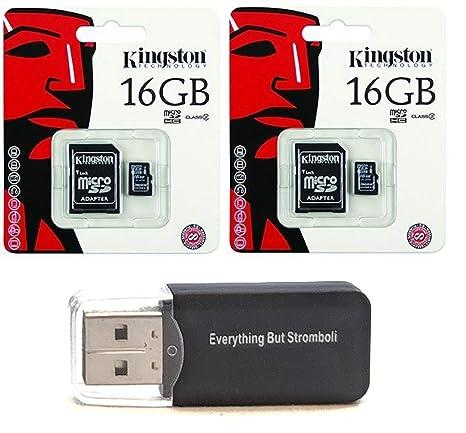 2 unidades de Kingston 16 GB MicroSD HC Clase 4 TF microSDHC con ...