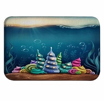AMonamour Fantastique Coquille Sous Leau Conque Maisons Bleu Ocean Nautique Sur Le