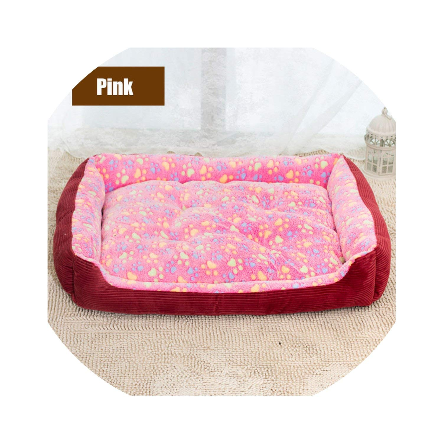 pink red 88x68x13cm pink red 88x68x13cm longing-summer Large Breed Dog Bed Sofa Mat House 3 Size Cot Pet Bed House for large dogs Big Blanket Cushion Basket Supplies,pink red,88x68x13cm
