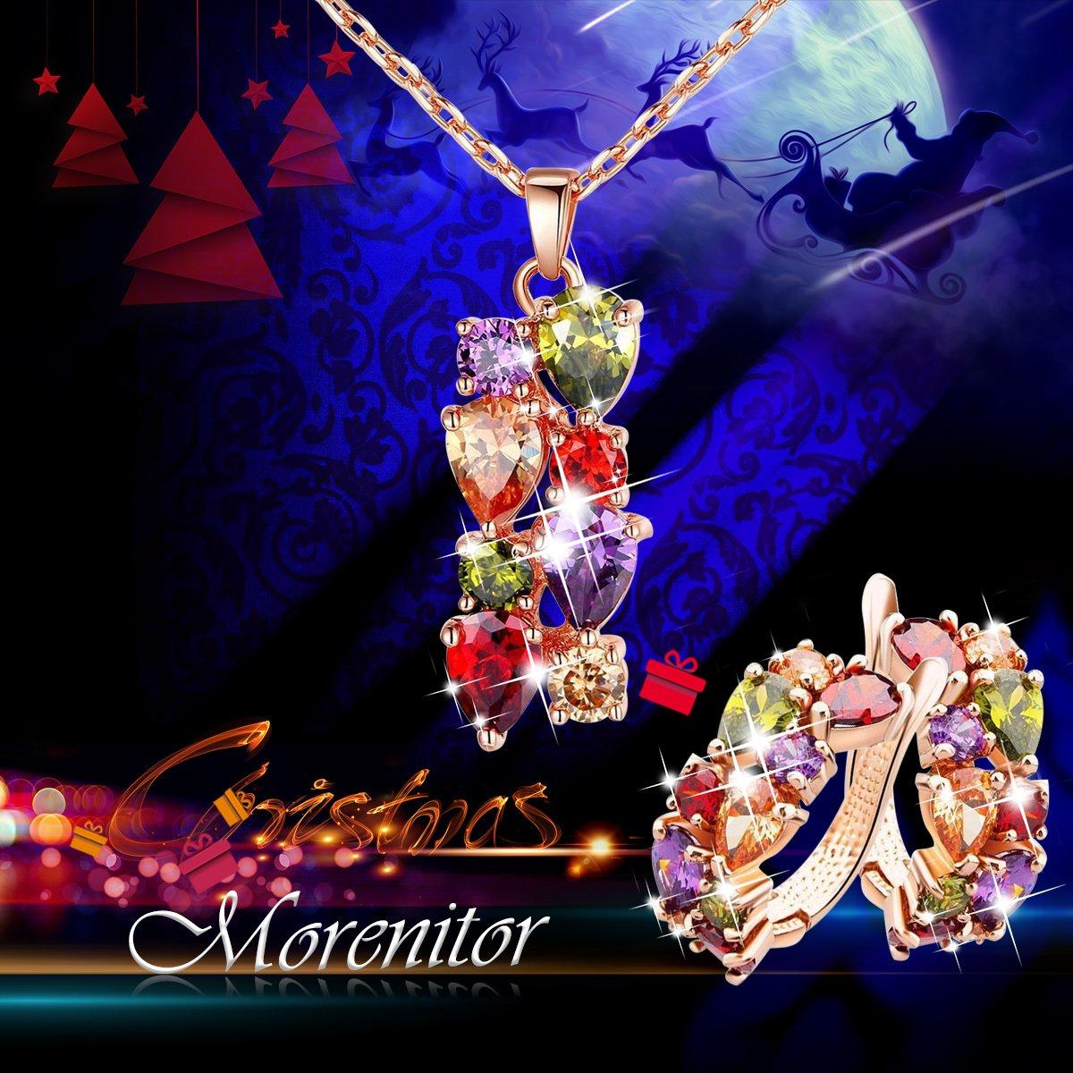 Morenitor TM Jewelry Set 18 K de Corazón Flor Oro Chapado de en ...