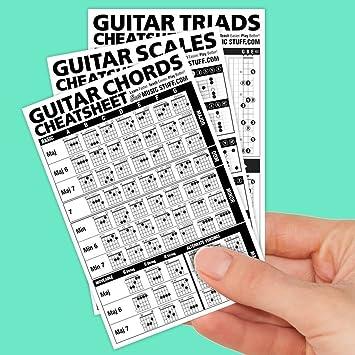 Guitar Chords Cheatsheet Laminated Pocket Reference 4\
