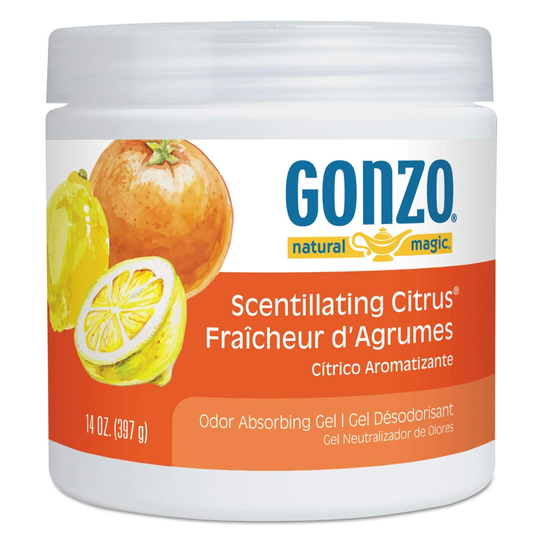 Natural Magic Odor Absorbing Gel, Scentillating Citrus, 14 oz Jar - 4119DEA, (Pack of 5)