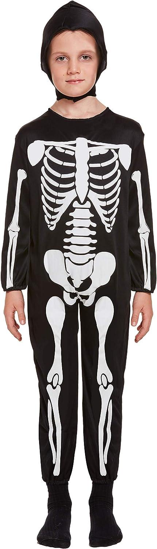 Henbrandt Disfraz de Esqueleto Infantil Talla pequeña Edad 4 - 6 ...
