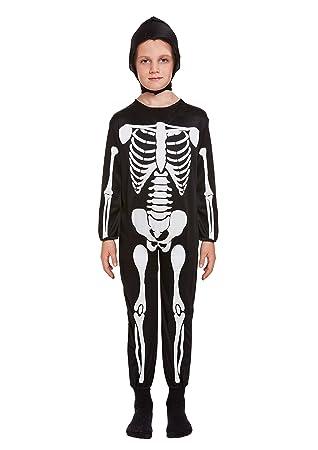 Henbrandt Disfraz de Esqueleto Infantil Talla pequeña Edad 4 - 6 años