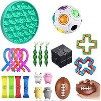 Ametoys 22Pcs Sensory Fidget Toy,Set Pop Bubble Toys,Relief Hand Toys,for Adult Children