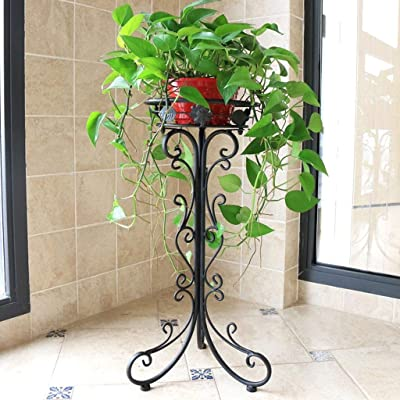 LRW Simple Flower Rack Floor Balcony Indoor Living Room Composite Iron Flower Rack (Size : S): Garden & Outdoor