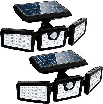 Security LED Waterproof Adjustable Head 2 Pack Solar Lights Motion Sensor