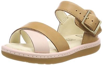 04b2b025b0339 Clarks Girls' Skylark Pure T Sling Back Sandals, Brown (Tan Combi Leather-