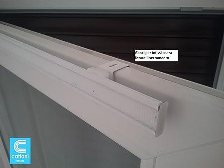 mauro Profilo con Velcro in Alluminio per Tende da 40-a 100 cm Completo di terminali e Supporti