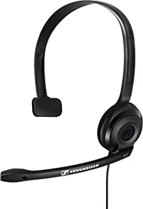 Sennheiser PC 2 CHAT Lightweight Telephony On-Ear Headset, Black