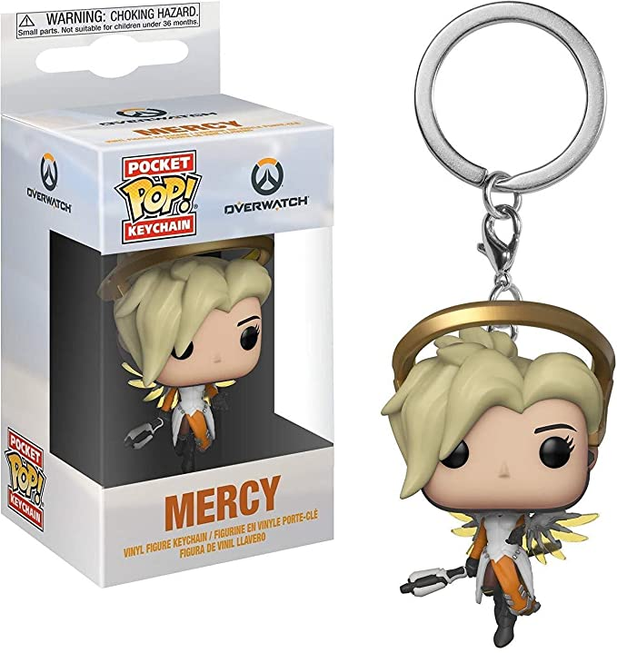 Funko Pop Keychain: Overwatch - Mercy Collectible Figure, Multicolor
