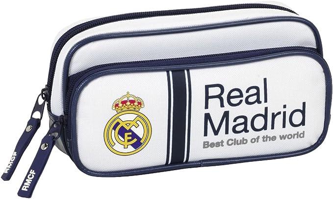 Real Madrid Estuche portatodo con Bolsillo, 1ª equipacion Temporada 2016/2017 (SAFTA 811654602): Amazon.es: Juguetes y juegos